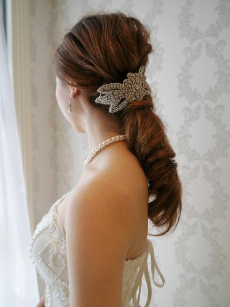 花嫁ヘア ヘッドドレス