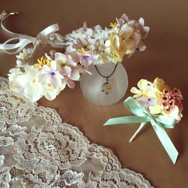 ウェディング ヘッドドレス 名古屋 花冠