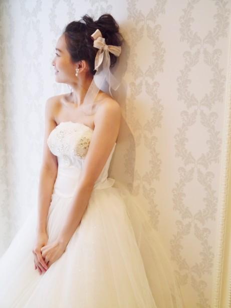 ウェディング ヘッドドレス 花嫁ヘア 名古屋