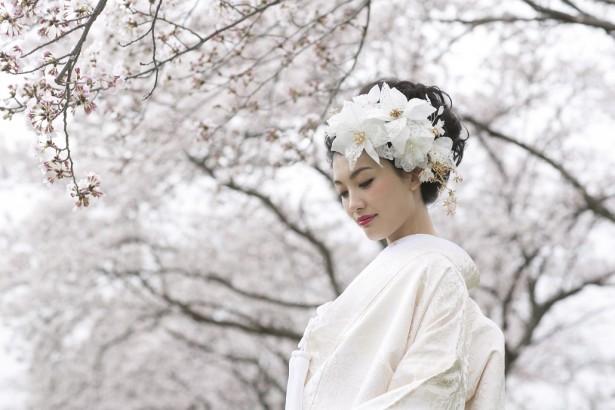 和装 ヘッドドレス 名古屋 桜