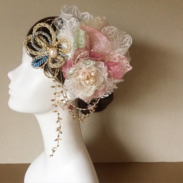 和装 ヘッドドレス 結婚式 名古屋 和紙
