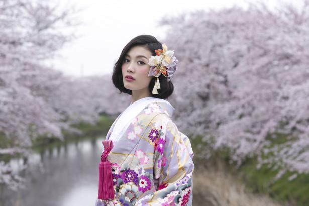 和装 ヘッドドレス ビジュー 名古屋 桜