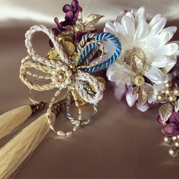 結婚式 和装 ヘッドドレス 髪飾り 組紐