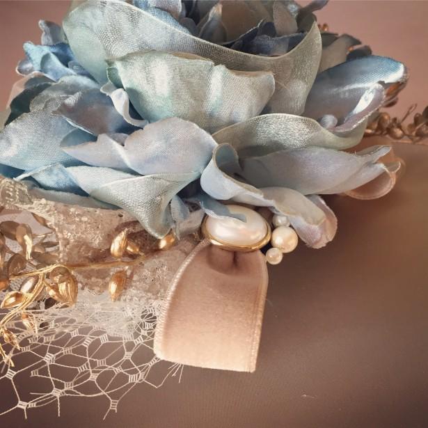 結婚式 ウェディング ヘッドドレス 名古屋 アンティーク ベロア