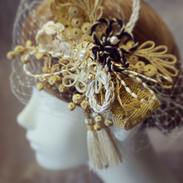 結婚式 ウェディング 和装 ヘッドドレス テレビ 取材
