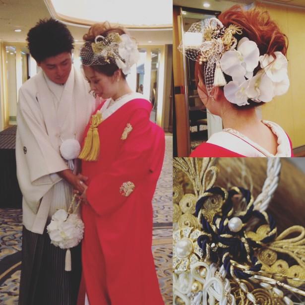 ウェディング 結婚式 ヘッドドレス 和装 赤無垢 名古屋