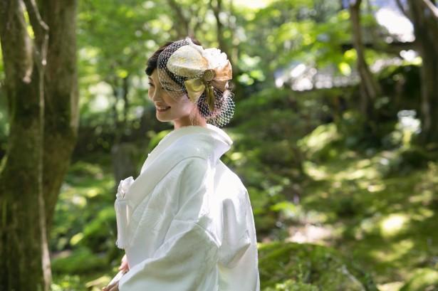 結婚式 和装 ヘッドドレス トーク帽 髪飾り ウェディング