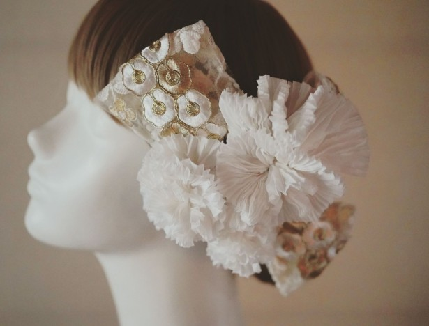 有松絞り ヘッドドレス 和装 髪飾り 花嫁ヘア