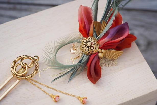 和装髪飾り 花嫁かんざし 和装ヘッドドレス